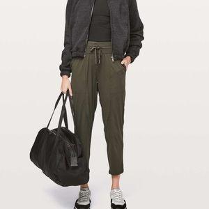 "Lululemon Dance Studio Crop Pants *25"" Dark Olive"